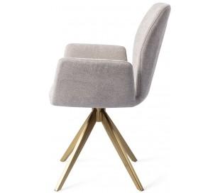 2 x Misaki Rotérbare Spisebordsstole H87 cm polyester - Guld/Grå