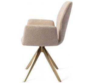 2 x Misaki Rotérbare Spisebordsstole H87 cm polyester - Guld/Karamel