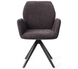 2 x Misaki Rotérbare Spisebordsstole H87 cm polyester - Sort/Antracit