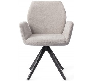 2 x Misaki Rotérbare Spisebordsstole H87 cm polyester - Sort/Grå