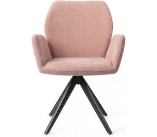 2 x Misaki Rotérbare Spisebordsstole H87 cm polyester - Sort/Rosa