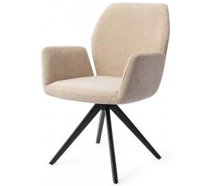 2 x Misaki Rotérbare Spisebordsstole H87 cm polyester - Sort/Karamel