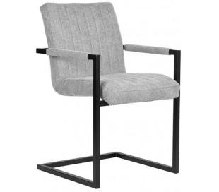 Milo spisesbordsstol i polyester og metal H85 cm - Industriel sort/Grå