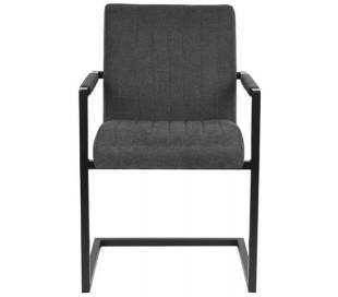Milo spisesbordsstol i polyester og metal H85 cm - Industriel sort/Antracit