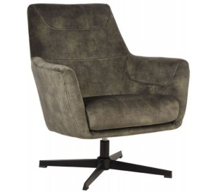 Toby rotérbar lænestol i velour H90 cm - Jægergrøn