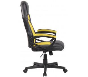 Racing Gaming kontorstol i kunstlæder H110 - 120 cm - Sort/Gul