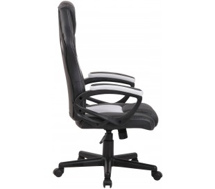 Racing Gaming kontorstol i kunstlæder H110 - 120 cm - Sort/Hvid