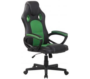 Racing Gaming kontorstol i kunstlæder H110 - 120 cm - Sort/Grøn