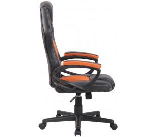 Racing Gaming kontorstol i kunstlæder H110 - 120 cm - Sort/Orange
