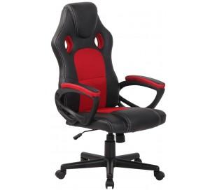 Racing Gaming kontorstol i kunstlæder H110 - 120 cm - Sort/Rød