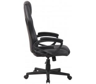 Racing Gaming kontorstol i kunstlæder H110 - 120 cm - Sort/Sort