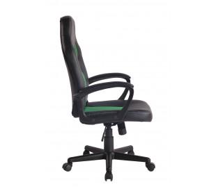 Racing Gaming kontorstol i kunstlæder H106 - 116 cm - Sort/Grøn