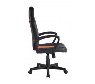 Racing Gaming kontorstol i kunstlæder H106 - 116 cm - Sort/Orange