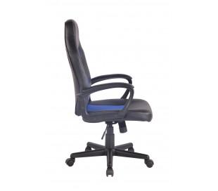 Racing Gaming kontorstol i kunstlæder H106 - 116 cm - Sort/Blå
