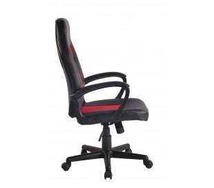Racing Gaming kontorstol i kunstlæder H106 - 116 cm - Sort/Rød