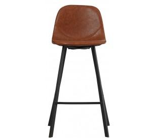 Luke Barstol i øko-læder H90 cm - Sort/Cognac