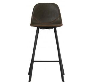 Luke Barstol i øko-læder H90 cm - Sort/Olivengrøn