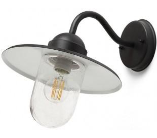 Beacon Væglampe i metal 1 x E27 Ø29 cm - Struktureret sort