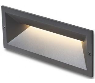 RAGG Væglampe til indbygning 25 x 9,8 cm 12W LED - Antracitsort