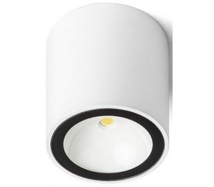 SENZA R udendørs påbygningsspot 6W LED - Hvid/Sort