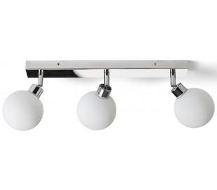 BOLLY Badeværelseslampe B43 cm 3 x G9 LED - Krom/Opalhvid