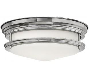 Hadrian Badeværelseslampe i stål og glas Ø30,5 cm 2 x E27 - Poleret krom/Opalhvid