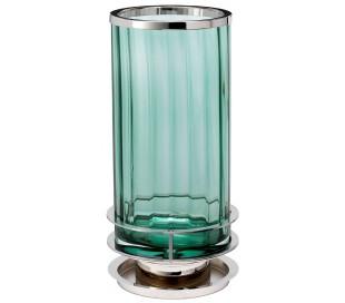 Arno Bordlampe i glas og stål H35,4 cm 1 x GX53 - Poleret nikkel/Grøn