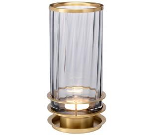 Arno Bordlampe i glas og stål H35,4 cm 1 x GX53 - Aldret messing/Røget