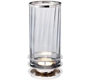 Arno Bordlampe i glas og stål H35,4 cm 1 x GX53 - Poleret nikkel/Røget