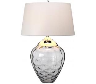 Samara Bordlampe i glas og tekstil H71 cm 1 x E27 + 1 x GU10 LED - Røget/Taupe