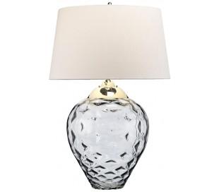 Samara Bordlampe i glas og tekstil H79 cm 1 x E27 + 1 x GU10 LED - Røget/Taupe