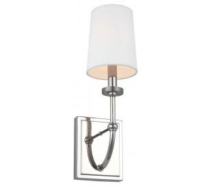 Felixstowe Badeværelseslampe i stål og tekstil H40,6 cm 1 x G9 LED - Poleret krom/Hvid