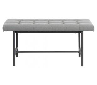 Sigfrid Bænk i polyester og metal B160 cm - Sort/Lysegrå