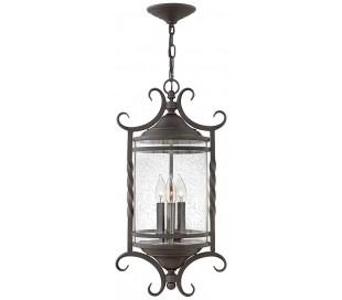 Casa Loftlampe i stål og glas Ø30,1 cm 3 x E14 - Antik sort/Klar med dråbeeffekt