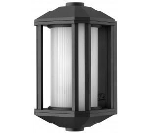 Castelle Væglampe i stål og glas H29,2 cm 1 x E27 - Sort/Hvid