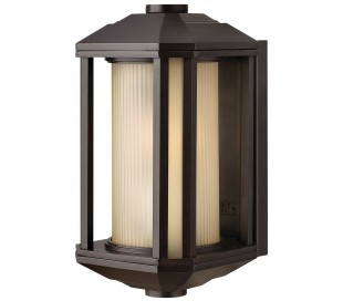 Castelle Væglampe i stål og glas H29,2 cm 1 x E27 - Bronze/Rav