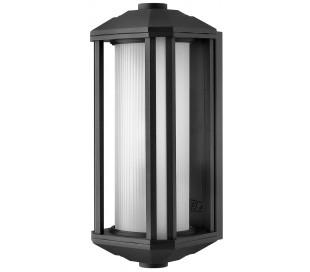 Castelle Væglampe i stål og glas H38,3 cm 1 x E27 - Sort/Hvid