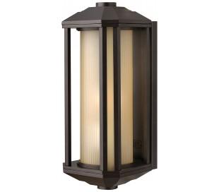 Castelle Væglampe i stål og glas H38,3 cm 1 x E27 - Bronze/Rav