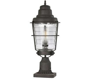 Chance Harbor Halvmurs lampe i stål og glas H55,4 cm 1 x E27 - Aldret zink/Klar rillet