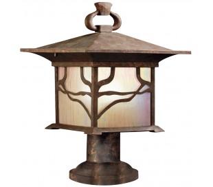 Morris Halvmurs lampe i stål og glas H41,9 cm 1 x E27 - Aldret kobber/Olieret glas