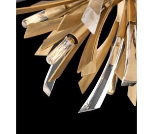 Vida Lysekrone i stål og glas Ø74 cm 6 x E14 - Børstet guld/Klar