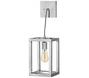 Ensemble Loftlampe i stål 17,8 x 17,8 cm 1 x E27 - Poleret nikkel