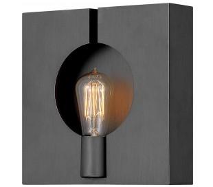 Ludlow Væglampe i stål 26,2 x 26,2 cm 1 x E27 - Børstet grafitgrå