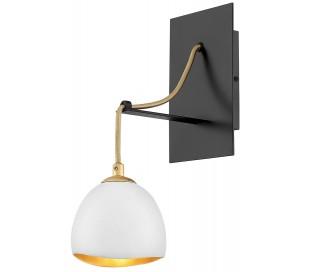 Nula Væglampe i stål H33 cm 1 x E14 - Sort/Hvid/Guld