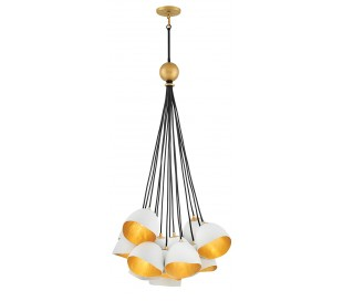 Nula Loftlampe i stål Ø65 cm 15 x E14 - Hvid/Guld