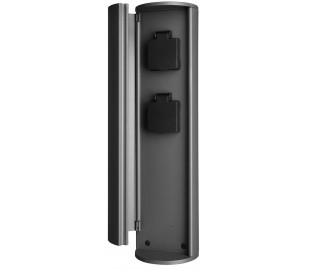 Tower 2 x Strømudtag i aluminium H40 cm - Mørkegrå