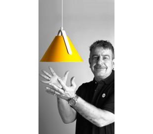 Diversity loftlampe Ø28 cm 1 x E27 - Gul/Hvid