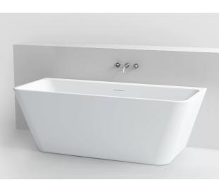 INBE væg badekar 170 x 75 cm Akryl - Hvid