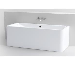 INBE væg badekar 172 x 74 cm Akryl - Hvid