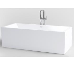 INBE fritstående badekar 180 x 80 cm Akryl - Hvid
